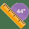 44 inch